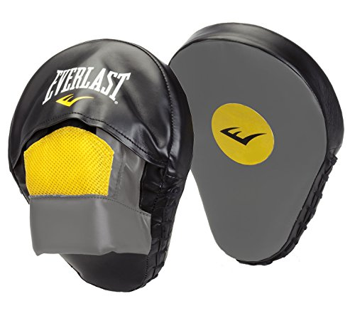 Everlast Erwachsene Boxartikel 4416 Vinyl Mantis Punch Mitts Black/Grey/Yellow, OSFA