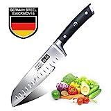 SHAN ZU Santokumesser Professionelle Deutscher 1.4116 Stahl Küchenmesser Fleisch Messer 180mm