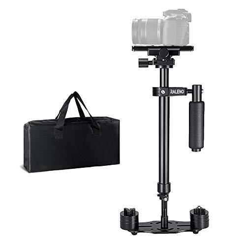 Kamera Stabilisator, RALENO 60cm Steadycam mit Schnellwechselplatte 1/4 3/8 Zoll Schraube für Canon Nikon Sony und andere DSLR Kamera Video DV bis zu 3 kg