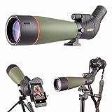 Gosky 2019 Aktualisiertes neuestes Spektiv - BAK4 Abgewinkeltes Spektiv für das Schießen von Zielen Jagd Vogelbeobachtung Wildlife Scenery mit Smartphone-Adapter und Kamera-Adapter für Canon