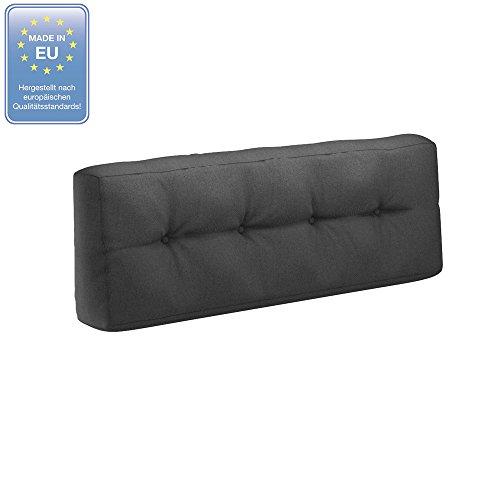 Farbvielfalt Palettensofa Palettenpolster Kissen Sofa Couch Polster Indoor Outdoor (Rückenkissen, Anthrazit)