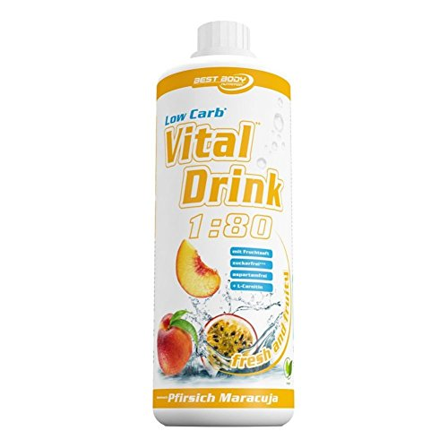 Best Body Nutrition - Low Carb Vital Drink, Pfirsich-Maracuja, 1000 ml Flasche