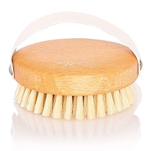 CELLIA Körper-Bürste rund 100% Naturborsten | regionales, FSC-zertifiziertes Buchenholz | zur Trockenbürsten-Massage (dry brush), Lymphdrainage und Bekämpfung von Cellulite | hergestellt in DE