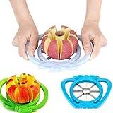 periwinkLuQ Apfelschneider und -entkerner, Edelstahl, Apfelschneider, Trenner, Obstmesser, Küchenwerkzeug einfach zu verwenden Multi