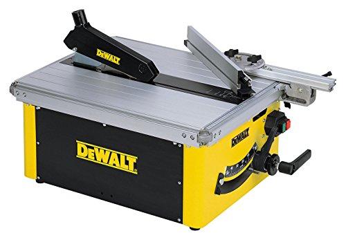 DeWalt Tischkreissäge DW745/ Leistungsstarke Säge mit Parallel- und Gehrungsanschlag für höchste Präzision / Tischkreissäge inkl. HM-Sägeblatt und Absaugreduzierung / 1850W