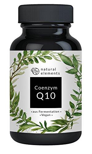 Coenzym Q10 - Einführungspreis - 120 vegane Kapseln à 200mg Q10 - Rein pflanzlich aus Fermentation - Hochdosiert & hergestellt in Deutschland