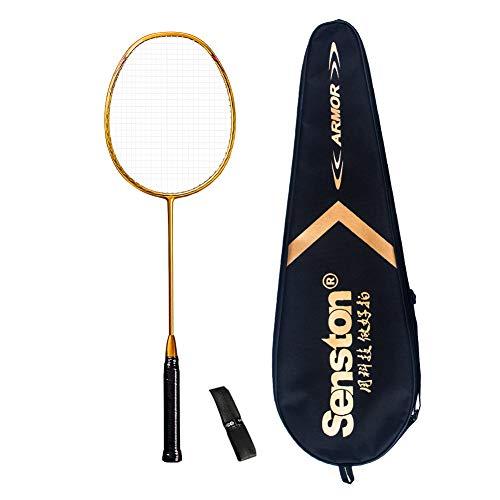 Senston N80 Ultra-Lict 100%GraphitBadmintonschläger Carbon Badmintonschläger S330 Hohes Pfund Perfect Badminton Schlaeger mitSchlägertasche