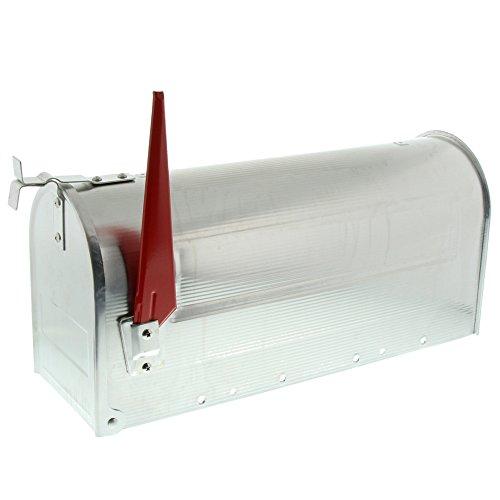 BURG-WÄCHTER, US-Mailbox mit schwenkbarer Fahne, 892 ALU, Massiv Aluminium