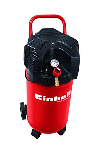 Einhell Kompressor TH-AC 200/30 OF (1,1 kW, 30 L, Ansaugleistung 200 l / min, 8 bar, ölfrei, stehende platzsparende Bauweise)
