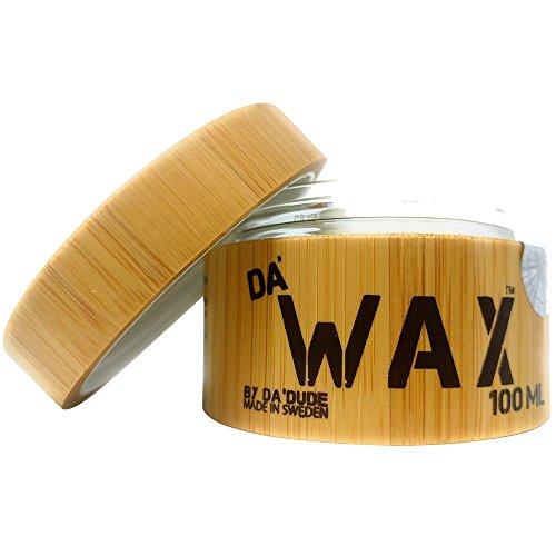 Da'Dude Da'Wax Extra Starkes - Hair Cream Wax Matt Finish - langanhaltend in einer hochwertigen hölzernen Dose mit Geschenktasche 100ml