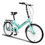 Indoorcycling Bikes Fahrrad-Fahrrad-Unisex-Faltrad 20 Zoll-Rad-faltende Stadt V2 Kompaktes Faltbares Fahrrad-Leichtgewichtler-Legierungs-faltende Stadt (Color : Green, Size : 26-inch)