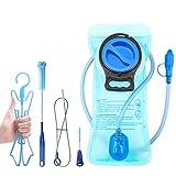 TAGVO Trinkblase 2 Liter BPA-frei 70oz + Reinigungsbürsten Kit, Dichter Wasserblasen Reisebehälter Trinkbeutel, Einfache Reinigung mit Cleanning Brushes Kit