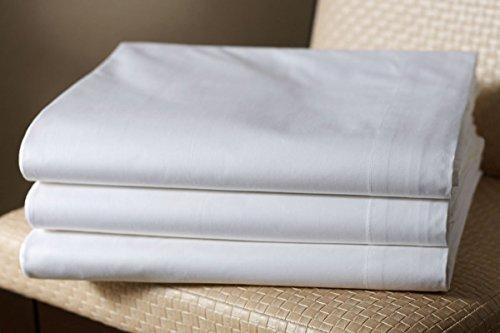 Clinotest glatte Bettlaken in vielen verschiedenen Größen, weiß, in 100% Baumwolle, auch für Abdeckungen / Tischdecken / Fangolaken / Sommerlaken zum zudecken