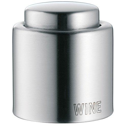 WMF Clever & More Weinflaschenverschluss 'Wine', Edelstahl Cromargan mattiert, H 4,7cm, Ø 4 cm