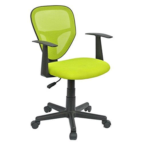 Schreibtischstuhl Kinderdrehstuhl Bürostuhl Drehstuhl STUDIO in grün mit Armlehnen, höhenverstellbar