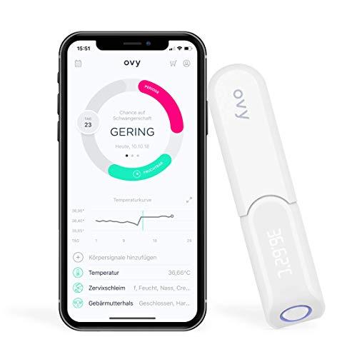 Ovy Bluetooth Basalthermometer zur Zykluskontrolle   Mit gratis App (iOS)   Kinderwunsch, Zykluskontrolle oder hormonfreie Verhütung