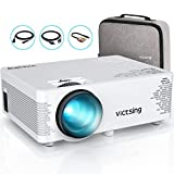 Mini Beamer VicTsing Heimkinoprojektor Full HD 1080P tragbarer Film Projektor groß Display 3000 Lux 40.000h LED-Lampenlebensdauer, kompatibel mit TV-Stick, PC, Laptop, USB / HDMI / VGA / SD / AV
