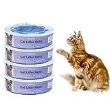 Signstek Katzen Nachfüllkassette für Litter Locker II - Cat Litter Disposal System Nachfüllkassetten EINWEG (4er Pack)