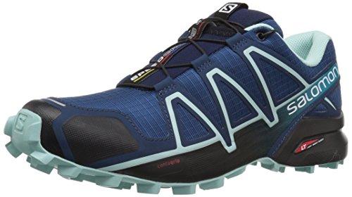 Salomon Damen Speedcross 4, Trailrunning-Schuhe, Blau (Poseidon/Eggshell Blue/Black), Größe: 41 1/3