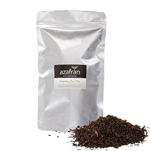 Schwarzer Tee - Indischer BIO Darjeeling Schwarztee lose (250g) Second Flush - ca.125 Tassen Genuss von Azafran