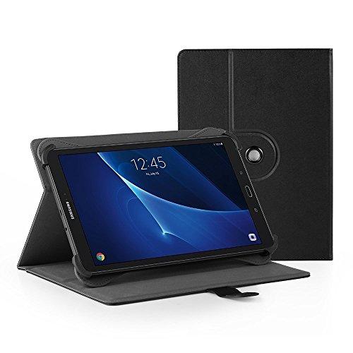 Easyacc 360 Grad Drehung Universal 10 Zoll Tablet Case für Acer Iconia One 10 B3-A40/ Lenovo Tab3 10 Plus 10,1 Zoll/ Lenovo Tab 2 A10-70/ XIDO Z120/3G 10 Zoll /Medion Lifetab S10321 10.1' - Schwarz