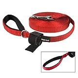 Kaka mall Schleppleine Durable Langlaufleine für Hunde Gute Qualität Nylon Hundetrainingsleine (M 10M, Rot)