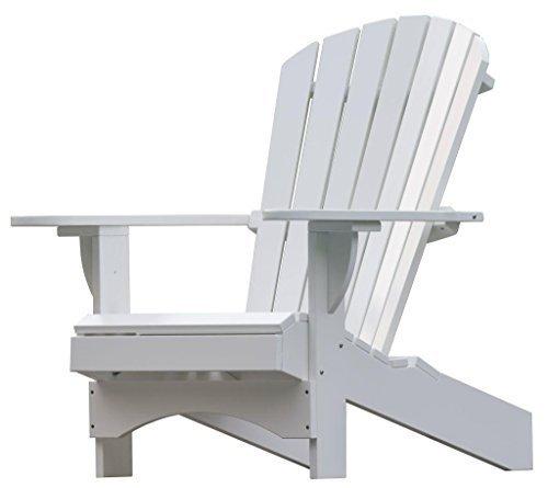 Adirondack Chair 'Comfort' de luxe in weiß