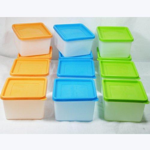 12 Stück Tiefkühldosen 0,7 Liter -40 °C bis +95 °C Gefrierdosen inklusive Gefrieretiketten