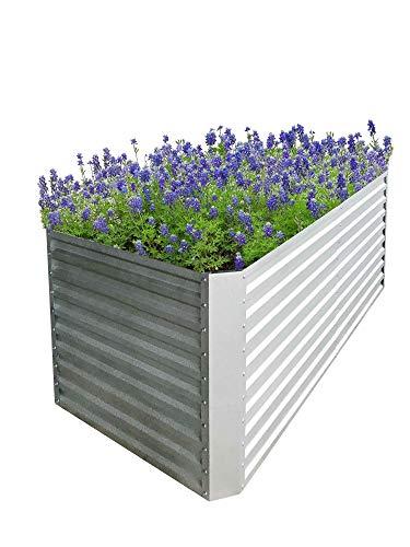RS Trade Hochbeet Gemüsebeet Gartenbeet Kräuterbeet Anzuchtbeet Frühbeet für Balkon, Terrasse und Garten, Witterungsbeständig