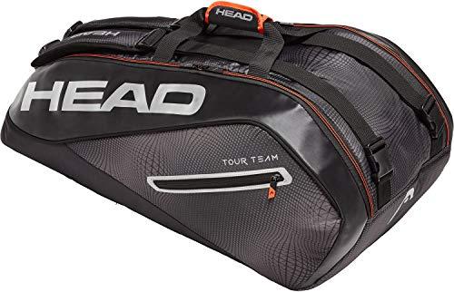 HEAD Tour Team 9r Supercombi Tennisschlägertasche, Unisex, 283119BKSI, schwarz/Silber, Einheitsgröße