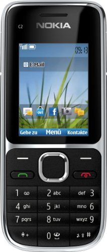 Nokia C2-01 Handy (Ohne Branding, 5,1 cm (2 Zoll), 3,2 Megapixel Kamera) schwarz