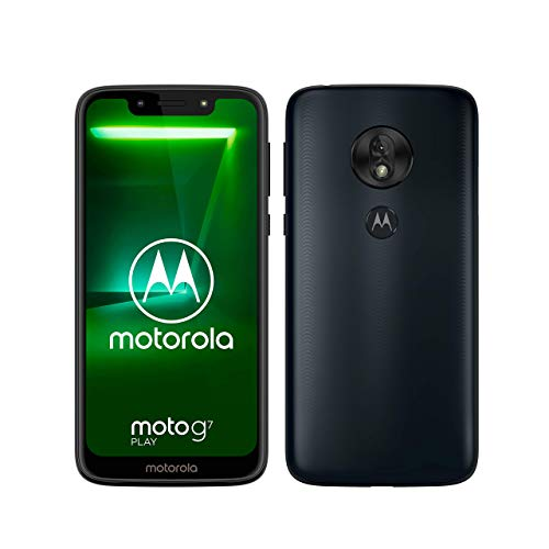 moto g7 play Dual-SIM Smartphone (5,7 Zoll Display, 13-MP-Kamera, 32GB/2GB, Android 9.0) Deep Indigo