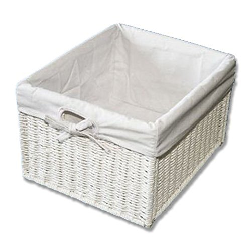 KMH, Praktische Korb-Box 'JYTTE' im Rattan-Look (weiss) (#204039)