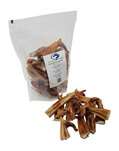 Food4Pets Ochsenziemerabschnitte Hundeleckerli 500g - Leckerli für kleine bis mittelgrosse Hunde