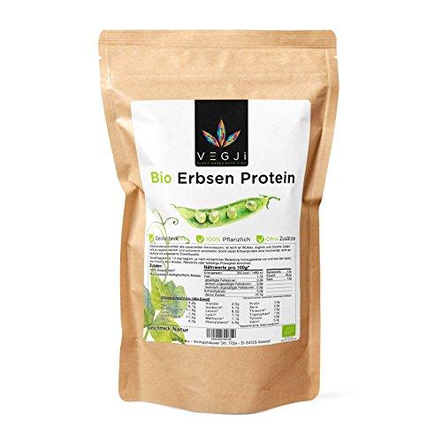 Bio Erbsenprotein 1000g, aus Erbsen angebaut in USA/Kanada, 85% Eiweiß, vegan, glutenfrei (DE-ÖKO-006)