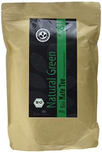 Delicatino Bio Mate Tee- Natural Green DOYPACK, 1er Pack (1 x 500 g)