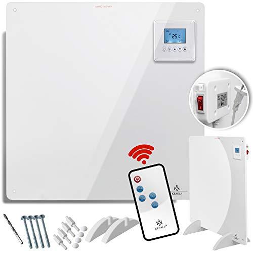 KESSER Infrarotheizung 425 Watt mit Fernbedienung  LCD-Display Digital  Timer  Wandheizung  Infrarot  Heizung  Heizkörper   Heizpaneel   Inkl.Standfüßen NEU  