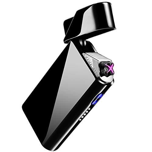 AngLink Elektronisches Feuerzeug, USB Elektro-Feuerzeug Dual Lichtbogen, Aufladbar Winddicht für Küche, Grill, Kerzen, Zigaretten, Lange Lebensdauer