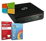 Fujitsu Esprimo Q520 Mini-PC   Intel Core i3-4350T@ 3,1GHz   8GB   256GB SSD   Windows 10 Pro   BullGuard   SoftMaker Office (Zertifiziert und Generalüberholt)