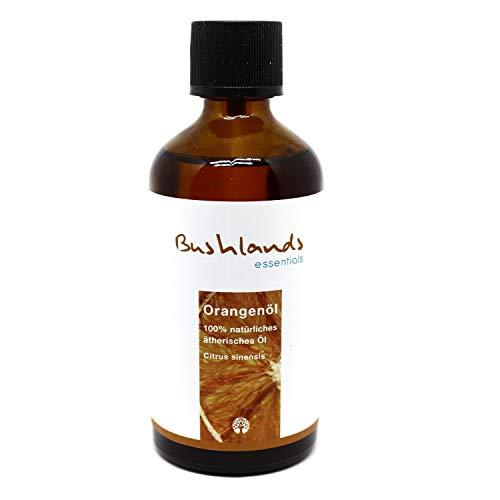 Bushlands essentials naturreines ätherisches Orangenöl (Citrus sinensis) 100ml - 100% naturreines, brasilianisches ätherisches Öl