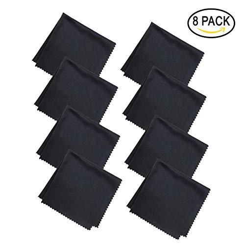 8-Teiliges Brillenputztuch-Mikrofasertücher Brillenputztuch Mikrofaser für Mobiltelefone Tablet Laptop Kameralinsen HD-Bildschirme 20x20cm