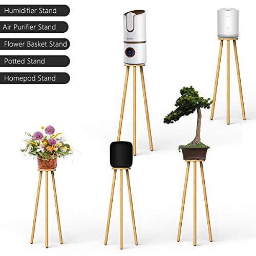 Ling-long Pflanzenständer Tisch Beistelltische Blumentopfständer Holzständer Blumentreppen für Apple Homepod Ständer Luftbefeuchterständer Luftreinigerständer Blumenkorb (verbesserte Version)