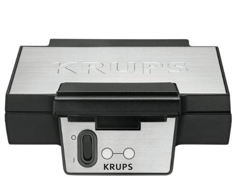 Krups FDK 251 Waffeleisen, 850 Watt für Belgische Waffeln, schwarz - edelstahl