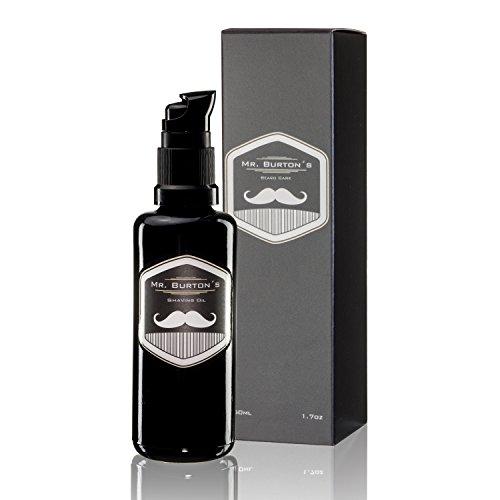 Mr. Burton´s Shaving Oil - Rasieröl zur sanften traditionellen Rasur verhindert Hautreizungen, pflegt mit Arganöl,duftneutral