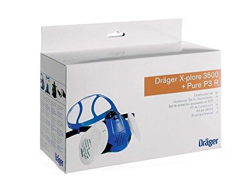 Dräger X-plore 3500 Pure P3 Halbmasken Set (Handwerker-Set für Staubarbeiten)