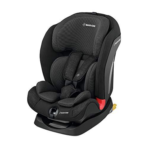 Maxi-Cosi Titan mitwachsender Kindersitz mit ISOFIX und Schlafposition, Gruppe 1/2/3 Autositz (9-36 kg), nutzbar ab 9 Monate bis 12 Jahre, Nomad Black
