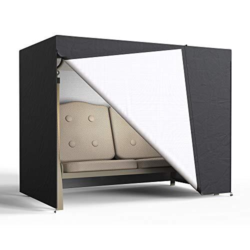 Enjoygoeu Schutzhülle Hollywoodschaukel 2 Sitzer Gartenschaukel Abdeckung Wasserdicht 210D Oxford 160 x 125 x 170 cm Abdeckhaube