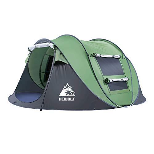 Hewolf Automatisches Pop-Up-Zelt für 2-3 Personen Tragbares Cabana-Strandzelt - wasserdicht und UV-Schutz Sonnenschutz für (Armeegrün, 2-3 Person)