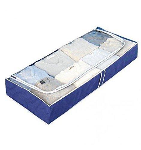 WENKO 4380630100 Unterbettkommode Air, 100 % Polypropylen, 105 x 15 x 45 cm, Blau