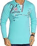 Herren Langarm Shirt Longsleeve T-Shirt Vintage (Mint (L.4.10 0645), L)